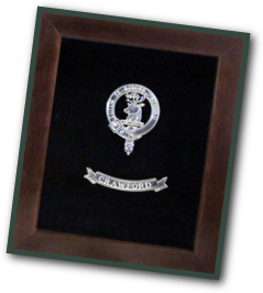clan crest badge in display box